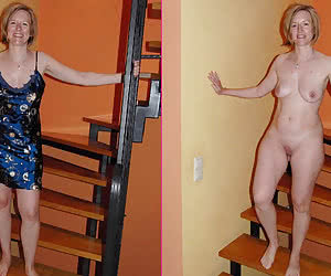 Dressed undressed mature Pictures